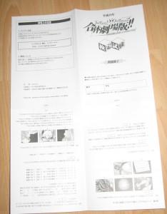 Noch ein doppelseitiger Zettel mit allerlei mir unverständlicher Infos ^^'
