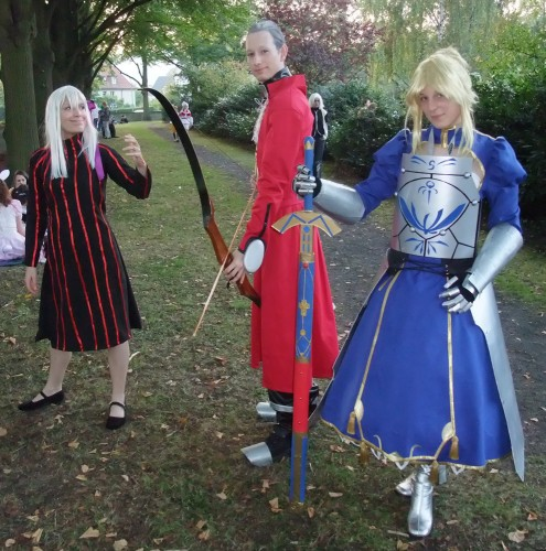 Dark Sakura, Archer und Saber aus Fate/stay night